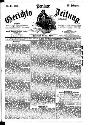 Berliner Gerichts-Zeitung vom 25.04.1891