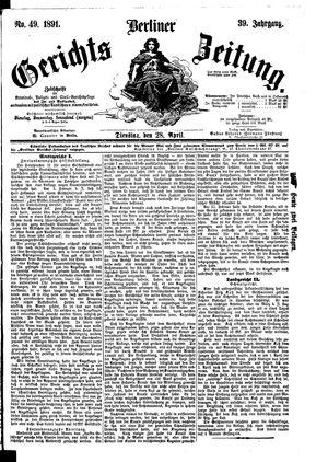 Berliner Gerichts-Zeitung vom 28.04.1891