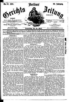 Berliner Gerichts-Zeitung vom 30.04.1891