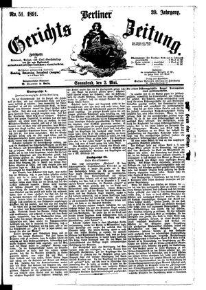 Berliner Gerichts-Zeitung vom 02.05.1891