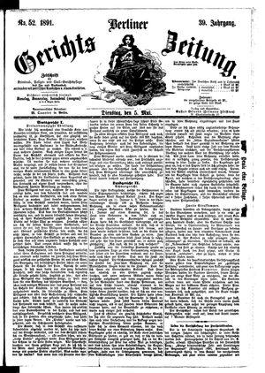 Berliner Gerichts-Zeitung on May 5, 1891