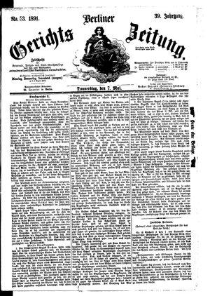 Berliner Gerichts-Zeitung vom 07.05.1891