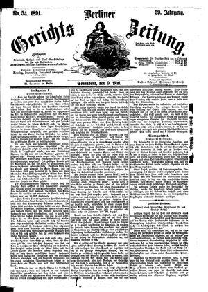 Berliner Gerichts-Zeitung vom 09.05.1891