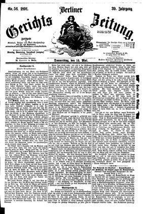 Berliner Gerichts-Zeitung vom 14.05.1891