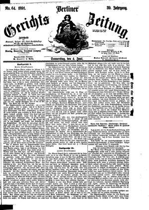 Berliner Gerichts-Zeitung on Jun 4, 1891