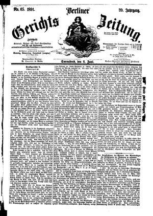 Berliner Gerichts-Zeitung vom 06.06.1891