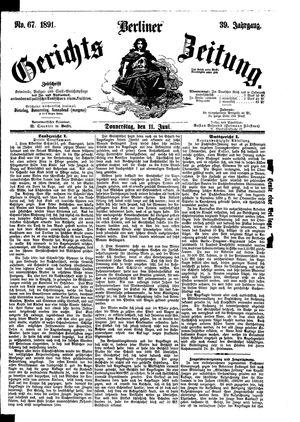 Berliner Gerichts-Zeitung vom 11.06.1891