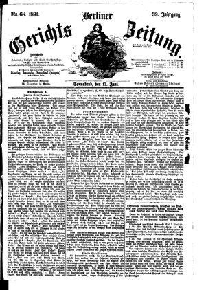 Berliner Gerichts-Zeitung on Jun 13, 1891
