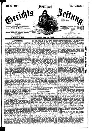 Berliner Gerichts-Zeitung vom 16.06.1891