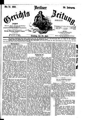 Berliner Gerichts-Zeitung vom 23.06.1891