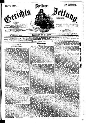 Berliner Gerichts-Zeitung on Jun 27, 1891