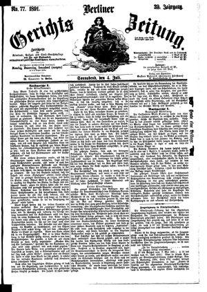 Berliner Gerichts-Zeitung vom 04.07.1891