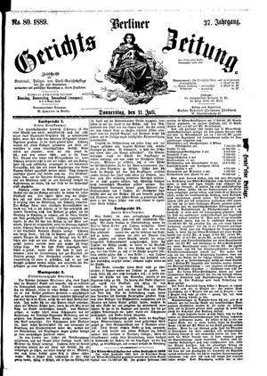 Berliner Gerichts-Zeitung vom 11.07.1891