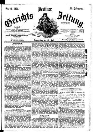 Berliner Gerichts-Zeitung vom 16.07.1891