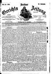 Berliner Gerichts-Zeitung (22.09.1891)