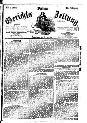 Berliner Gerichts-Zeitung vom 09.01.1892