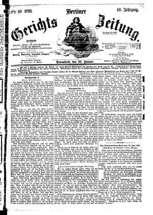 Berliner Gerichts-Zeitung on Jan 23, 1892