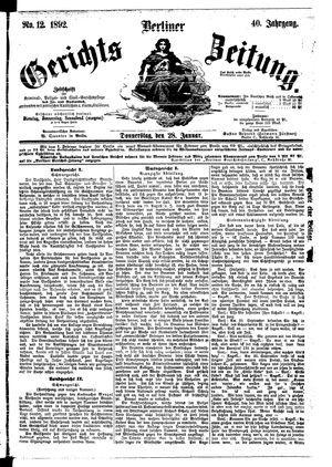 Berliner Gerichts-Zeitung vom 28.01.1892