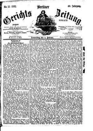 Berliner Gerichts-Zeitung vom 04.02.1892