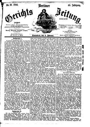 Berliner Gerichts-Zeitung vom 06.02.1892
