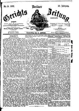 Berliner Gerichts-Zeitung vom 11.02.1892