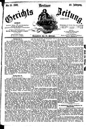 Berliner Gerichts-Zeitung vom 13.02.1892