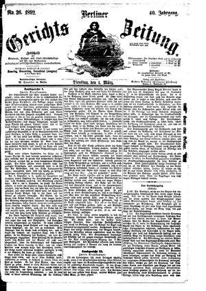 Berliner Gerichts-Zeitung vom 01.03.1892
