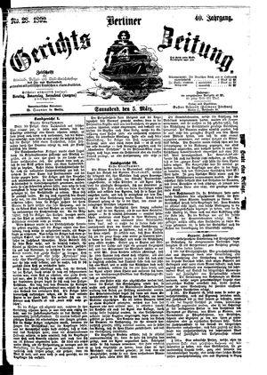 Berliner Gerichts-Zeitung vom 05.03.1892