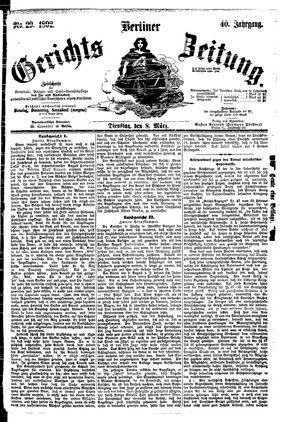 Berliner Gerichts-Zeitung vom 08.03.1892