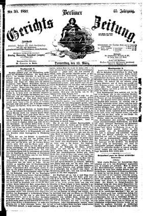 Berliner Gerichts-Zeitung vom 10.03.1892