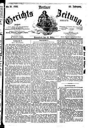 Berliner Gerichts-Zeitung vom 12.03.1892