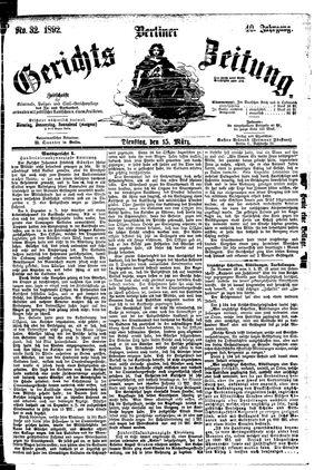 Berliner Gerichts-Zeitung vom 15.03.1892