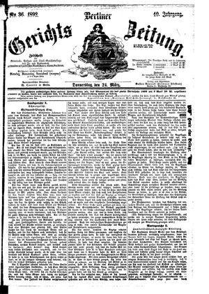 Berliner Gerichts-Zeitung vom 24.03.1892