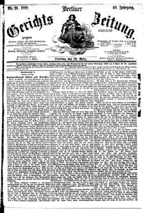 Berliner Gerichts-Zeitung vom 29.03.1892