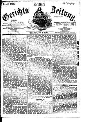 Berliner Gerichts-Zeitung vom 02.04.1892