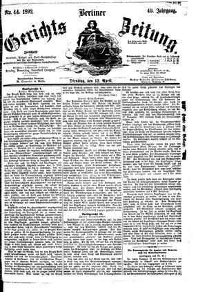 Berliner Gerichts-Zeitung vom 12.04.1892