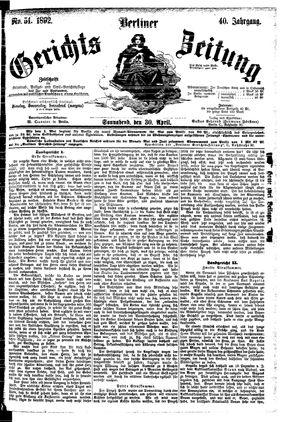 Berliner Gerichts-Zeitung vom 30.04.1892