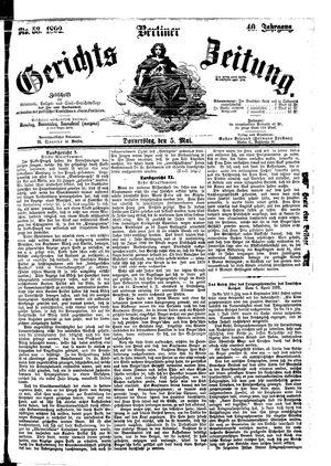 Berliner Gerichts-Zeitung vom 05.05.1892