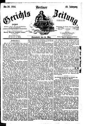 Berliner Gerichts-Zeitung vom 14.05.1892