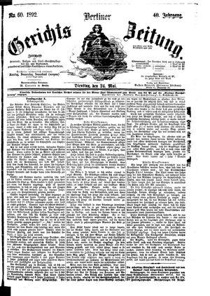 Berliner Gerichts-Zeitung vom 24.05.1892