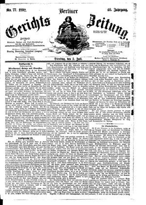 Berliner Gerichts-Zeitung vom 05.07.1892