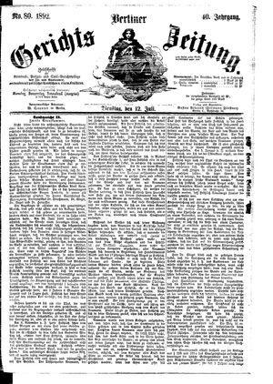 Berliner Gerichts-Zeitung vom 12.07.1892