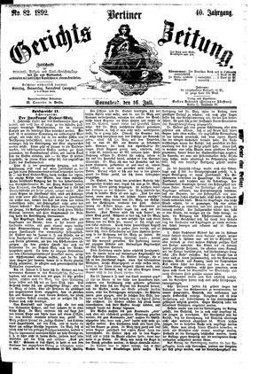 Berliner Gerichts-Zeitung vom 16.07.1892