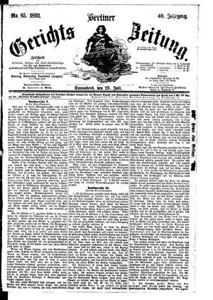 Berliner Gerichts-Zeitung vom 23.07.1892