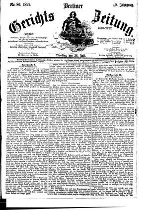 Berliner Gerichts-Zeitung vom 26.07.1892