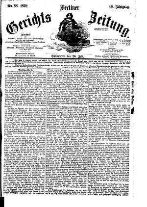 Berliner Gerichts-Zeitung vom 30.07.1892