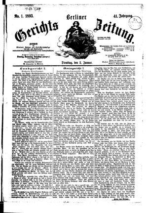 Berliner Gerichts-Zeitung vom 03.01.1893