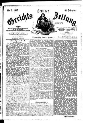 Berliner Gerichts-Zeitung vom 05.01.1893