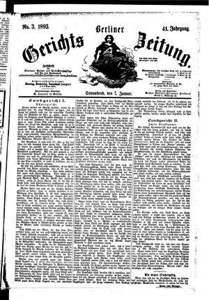 Berliner Gerichts-Zeitung on Jan 7, 1893