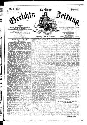 Berliner Gerichts-Zeitung vom 10.01.1893
